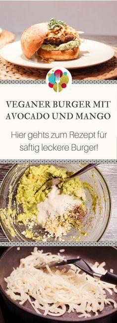 Vegan Burger mit Avocado und Mango I Entdeckt von Vegalife Rocks: www.vegaliferocks.de✨ #burger #vegan