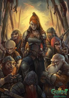 Gang of Renfri (Shrike) by Tony Sart (PRO) Artist looking for opportunity Fantasy Dwarf, Fantasy Warrior, Fantasy Rpg, Medieval Fantasy, Fantasy Artwork, Fantasy World, The Witcher, Witcher Art, Character Portraits