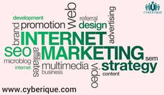 #Internet #Marketing -  Your #Internet #Marketing success is important to us because, without it, we don't have a business. See more.. http://www.cyberique.com/internet-marketing.php
