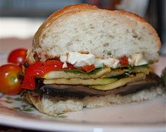 Grilled Portabella and Brie Burgers (omit cheese)