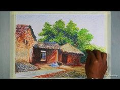 How to Paint Bullock Cart in Oil Pastel | step by step - YouTube