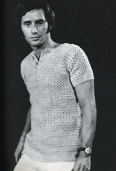 Crochet 'Vest-Sweater' from the Hamlyn Family Crochet Book 1971.  Made in a dk weight yarn.  Pattern available at Gather.