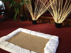 for lent, made a sand pit and sticks to represent jesus in the wilderness. you can have them prayer and use sticks to scratch symbols or words