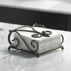 #PrincessHouse #Meridian™   #Napkin Holder....features a unique scrolled metal frame with an antique finish and protective lacquer coating that won't tarnish or rust! Great for your summer picnics so the napkins won't blow away! Regularly $29.95 We ship anywhere in the U.S. Please contact me to place your personal orders! lindabradley@myprincesshouse.com