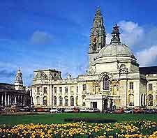 The City Hall is one of the most important landmarks in Cardiff and is situated in the heart of the city. Complete with a large domed roof, impressive architecture, a vast marble hall, regular exhibitions and period features, the City Hall also hosts many of the largest events and festivals. The grand building itself has been recently restored and has become synonymous with the city.