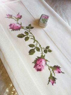 Ethamine towel samples Ethamine towel samples If you like to cross-stitch . - - Ethamine towel samples Ethamine towel samples If you like to cross-stitch, you can make the most elegant towel embroidery. Towel Embroidery, Embroidery Flowers Pattern, Hand Embroidery Designs, Cross Stitch Rose, Modern Cross Stitch, Cross Stitch Flowers, Funny Cross Stitch Patterns, Cross Stitch Designs, Crochet Leaves