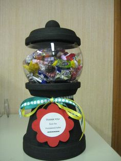 My Gumball candy dish I made for client...thanks to PINTEREST!
