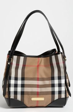 Free shipping and returns on Burberry 'House Check' Tote at Nordstrom.com. Timeless checks course across a leather-trimmed tote with a structured silhouette courtesy of an interior, snap-closure bridge strap.
