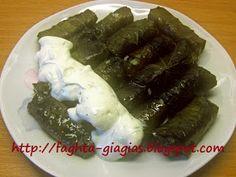 Ντολμαδάκια γιαλαντζί με αμπελόφυλλα Ethnic Recipes, Food, Essen, Meals, Yemek, Eten