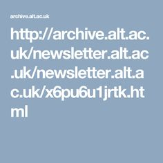 Learning Landscapes in Higher Education. Online Newsletter of the Association for the Advancement of Learning Technologies (ALT)