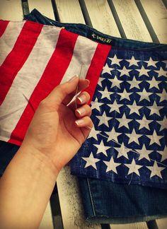 4th of july DIY shorts!