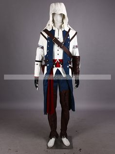 Connor Kenway Assassin's Creed 3 Cosplay Costume Connor Kenway, New Arrival Costumes, Cosplay Costumes