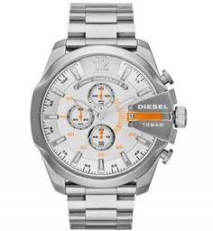 b3c03a90d0b9 Diesel Mega Chief Watch - Men s Watches in Silver
