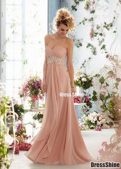 2015 gorgeous beaded chiffon strapless long prom dress for teens, ball gown, bridesmaid dress,graduation dress, evening dress #promdress #weddings