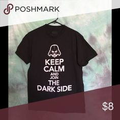 "Star Wars dark side t-shirt Like-new ""Keep calm and join the dark side"" Darth Vader Star Wars t-shirt, unisex Star Wars Tops Tees - Short Sleeve"