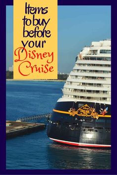 Going on a Disney Cruise? Here is my list of favorite Disney Cruise Line items. These are the things you should get before you go on the cruise! #disney #DCL #disneycruise