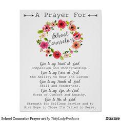 Shop Teacher Prayer Art Poster created by TidyLadyProducts. Teacher Prayer, School Prayer, Teacher Gifts, Prayer For Teachers, Prayer For Students, School Counselor, Speech And Language, Teacher Appreciation, Prayers