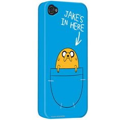 "adventur time i phone cases | ... Time » iPhone Cases » Adventure Time ""Jake's In Here"" iPhone Case"