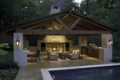 Turn your outdoors into a sanctuary with these very creative pergola designs. Whether free standing or attached, these designs are a great way to improve landsc kitchen and pool covered patios Creative Pergola Designs and DIY Options Backyard Patio Designs, Pergola Designs, Pergola Ideas, Backyard Gazebo, Landscaping Design, Backyard Layout, Backyard Pavilion, Outdoor Pavilion, Backyard Ideas