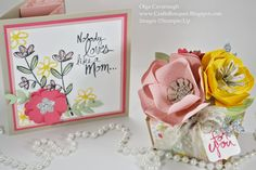 Stampin'Up Mother's Love Card and Bouquet Flower Gift Box