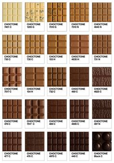 Ode to Pantone: 40 Awesome Pantone Products is all about Pantone, especially if it comes in edible chocolate! is all about Pantone, especially if it comes in edible chocolate! Food Design, Web Design, Graphic Design, Chart Design, Layout Design, Pantone Color Chart, Colour Chart, Pantone Colours, Colour Wheel