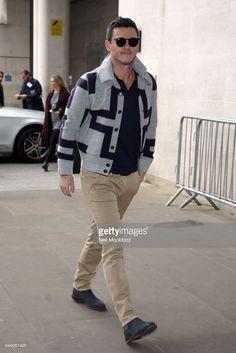 Luke Evans seen at BBC Radio One on February 23, 2017 in London, England.