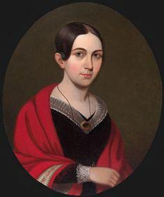 William Thompson Bartoll, Harriette Briggs Stoddard (1821-1848), c. 1841-1842, Harvard University Portrait Collection.