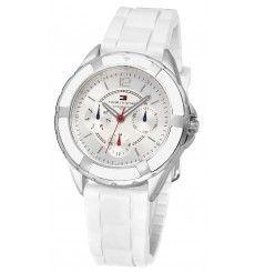 Dámske - Kaučuk/Plast - Libery Chronograph, Skeleton, Watches, Silver, Accessories, Fashion, Tommy Hilfiger Watches, Moda, Wristwatches