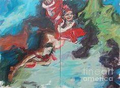 Clowns Paintings - Clown  by Andrada Morosan