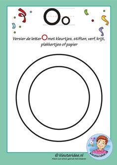 Pakket over de letter o blad 5, versier de hoofdletter O, kleuteridee, free printable