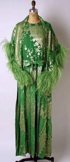 Christian Dior Haute Couture evening gown ensemble from fall/winter 1973-1974