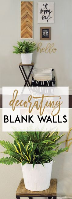 Decorating A Blank Wall by Lindi Haws of Love The Day