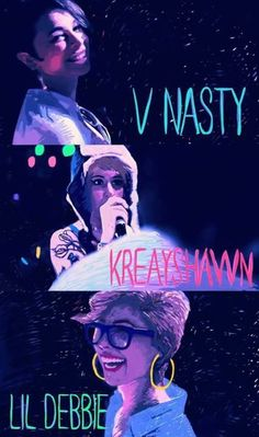 White girl mob; V-Nasty, Kreayshawn, Lil' Debbie.