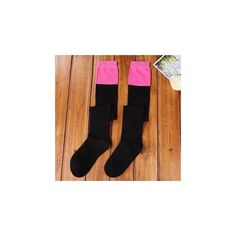 Color Block Thigh-High Socks ($8.46) ❤ liked on Polyvore featuring intimates, hosiery, socks, women, cotton thigh high socks, thigh-high socks, cotton socks, block socks and color block socks
