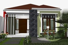 41 Simple Minimalist 1 Floor Model Homes - Dunia Adsense Simple House Design, Minimalist House Design, Minimalist Home, Modern House Design, Latest House Designs, Cool House Designs, Bungalow House Design, Interior Concept, Story House