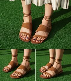 Dress Up Confidence! 66girls.us Wraparound Ankle Strap Sandals (DHZA) #66girls #kstyle #kfashion #koreanfashion #girlsfashion #teenagegirls #younggirlsfashion #fashionablegirls #dailyoutfit #trendylook #globalshopping