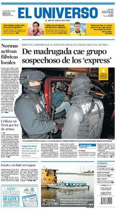 Portada de #DiarioELUNIVERSO del jueves 16 de enero del 2014. Las #noticias de #Ecuador y el mundo en: www.eluniverso.com