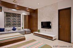 Home Interior Decoration Ideas Living Room Partition Design, Living Room Tv Unit Designs, Room Partition Designs, Tv Wall Design, Bed Design, Modern Tv Wall Units, Modern Master Bedroom, Bedroom Tv, Courtyard House