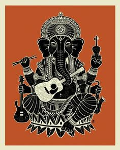 Ganesh - Poster that Sticks (giant wall decal) by Methane Studios. 28x35, $39