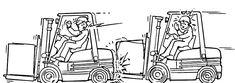Consejos de seguridad carretillas elevadoras. Marche siempre a una distancia segura de otros vehículos. Mantenga una distancia segura y prudencial detrás de cualquier otra carretilla elevadora que esté en movimiento, de tal manera  que pueda parar con seguridad, cualesquiera que sean las condiciones de trabajo.