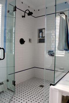 Bathroom Wonderful Bathroom Decorating Design Ideas with Square White Tile Bathroom Wall Including Black and White Tile Bathroom Floor and B...