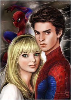 Gwen Stacy and Spidey