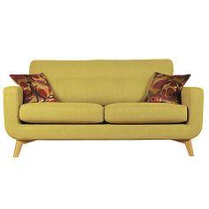 Buy John Lewis Barbican Medium Sofa with Light Legs, Henley Olive Online at johnlewis.com
