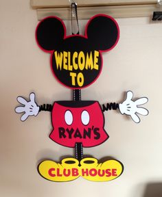 A personal favorite from my Etsy shop https://www.etsy.com/listing/249100777/mickey-mouse-party-door-sign-birthday