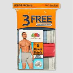 Fruit of the Loom Men's Boxer Briefs 5+3pk - XL,