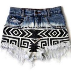 bleached bottom - black tribal
