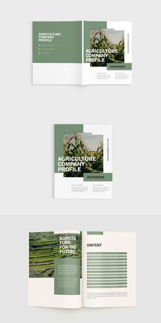 Agriculture Companies, Agriculture Quotes, Farming Quotes, Modern Agriculture, Agriculture Logo, Corporate Design, Business Design, Brochure Design Layouts, Company Profile Design