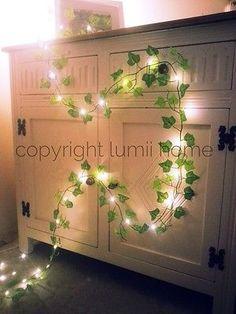 Ivy leaf garland 2m mini led fairy string lights wedding decoration woodland | eBay | @giftryapp