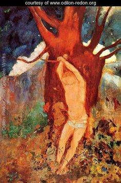 """""""The Martyrdom of St. Sebastian"""" (a personal favorite martyr, heh), by Odilon Redon"""