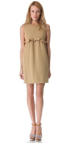 Carven ruffle waist dress (love the back!).